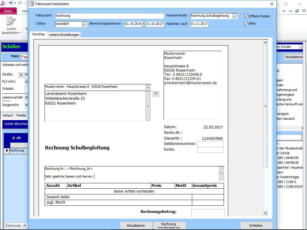 Erstellen Sie voll- und halbautomatisch Rechnungen an Kostenträger.