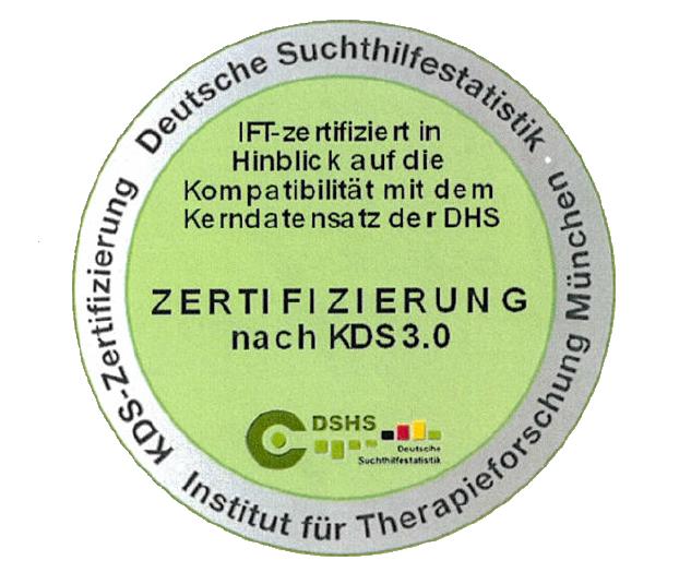 Zertifizierung nach KDS 3.0 Deutsche Suchthilfestatistik