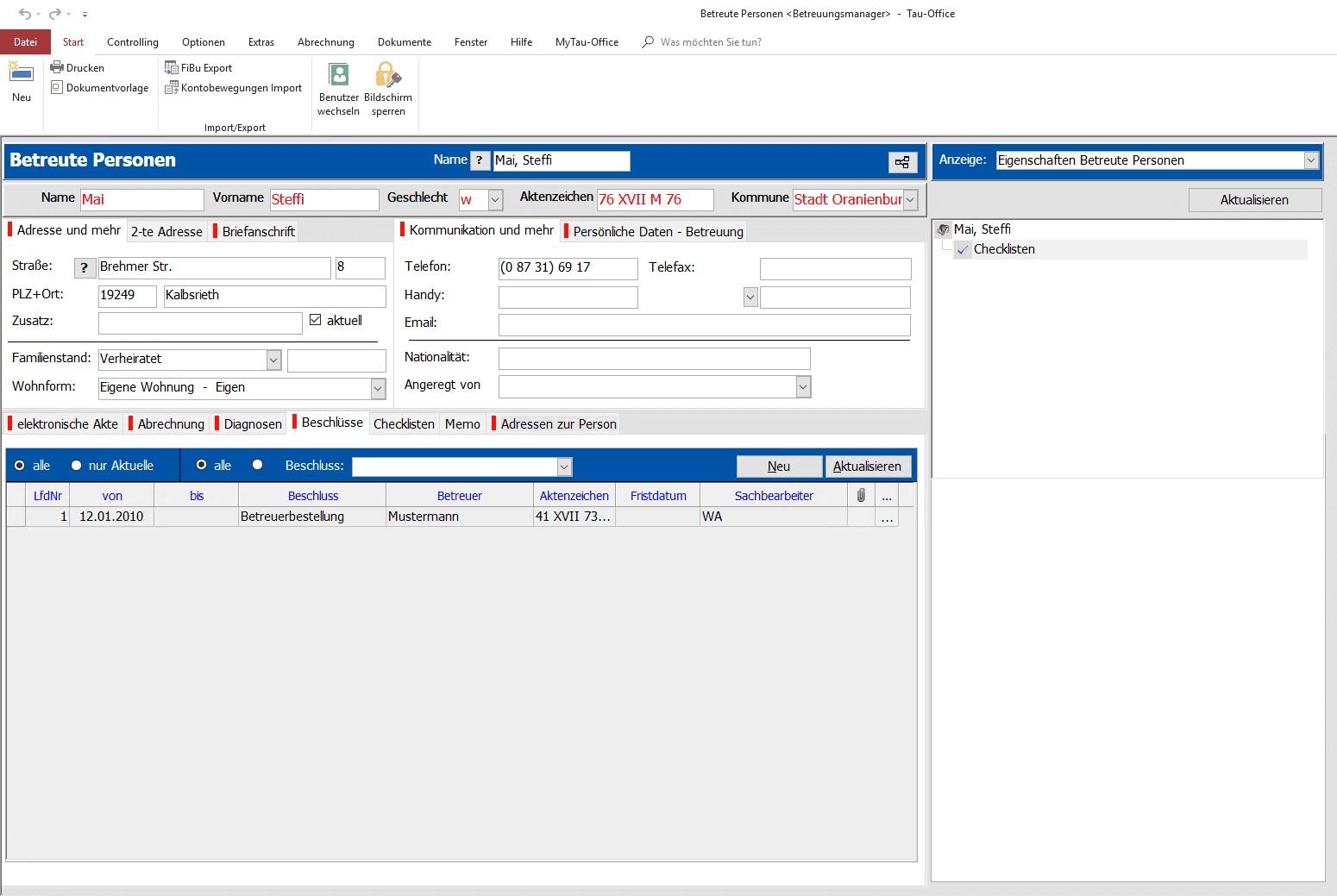 Verwalten Sie Ihre Beschlüsse ganz einfach mit Tau-Office BetreuungsManager.