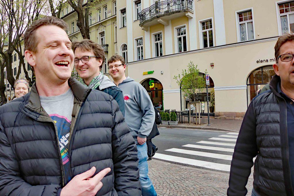 Haben immer gut lachen: Männerrunde v. l. n. r. Michael Wild, Jan-Philip Frank, Seabstian Bätz und Jens-Peter Riedl