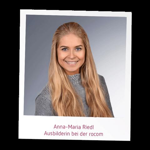 Anna Riedl Ausbilderin bei der rocom