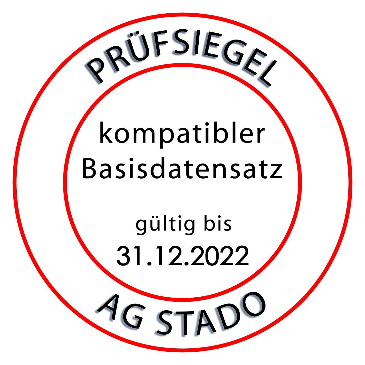 Siegel für Tau-Office der AG STADO gültig bis 2022