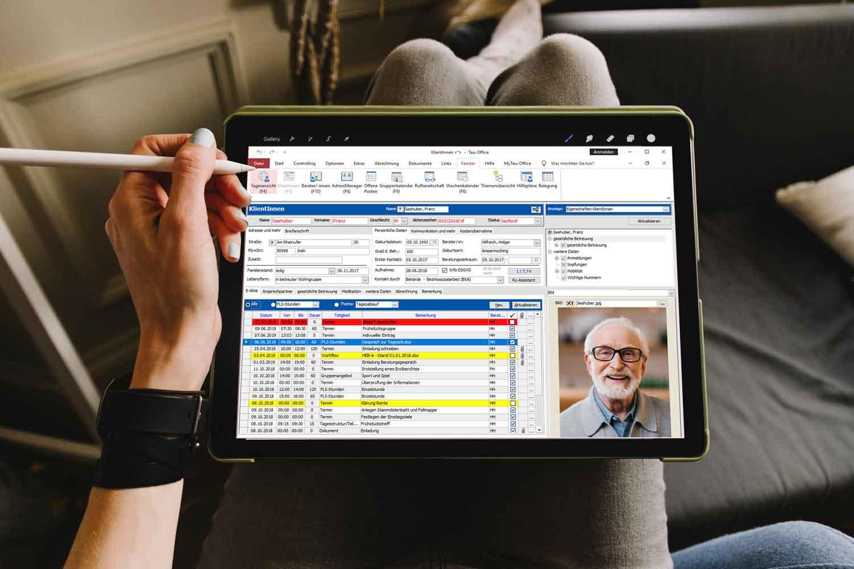 Tau-Office können  als mobile Cloud Software für Ämter und Behörden und soziale Träger
